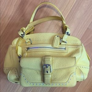 Coach Yellow Leather Satchel w/wallet